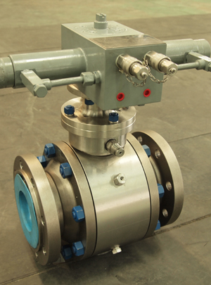 Ball valves 4in 900LB RF flange end